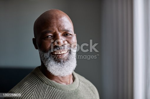 Portrait of a mature man at home