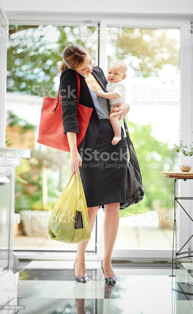 I've my hands full at the moment, talk later stock photo