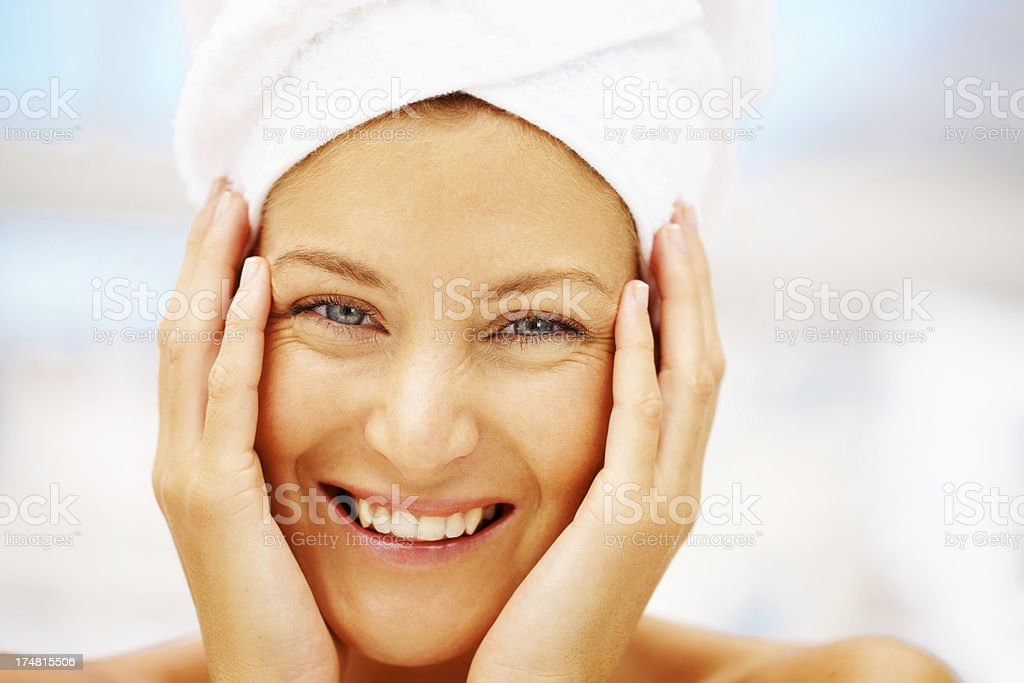 I've never had skin this smooth! - Spa Treatment royalty-free stock photo