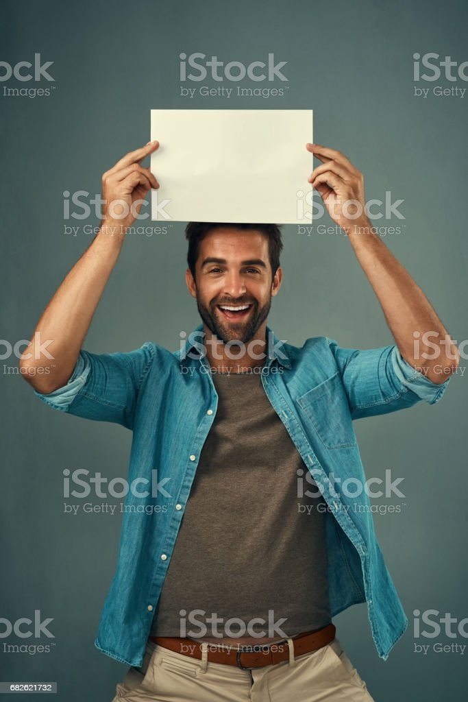 I've saved this space just for you stock photo
