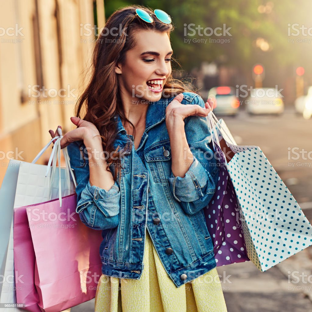 'I've shopped too much' said no one ever royalty-free stock photo
