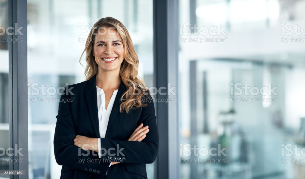 I've solidified my name in the business world stock photo