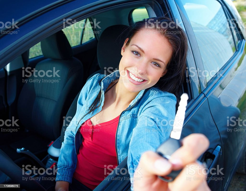 I've worked hard to get my own car! royalty-free stock photo