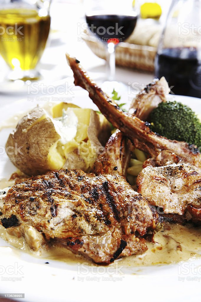 Veal Chops with bone royalty-free stock photo