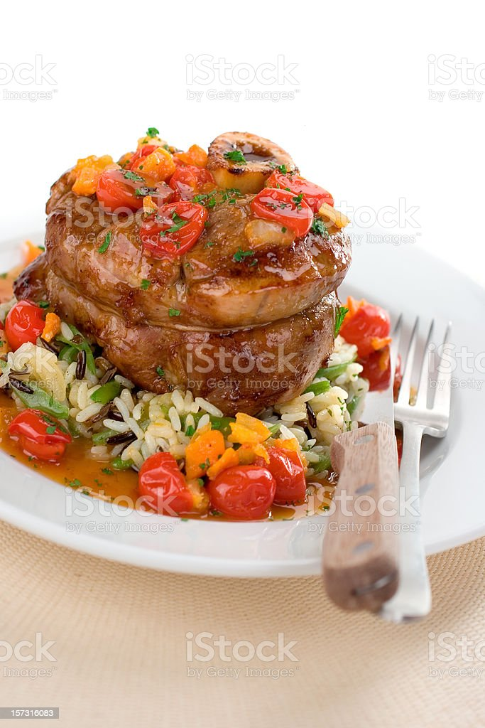 Veal Dinner royalty-free stock photo