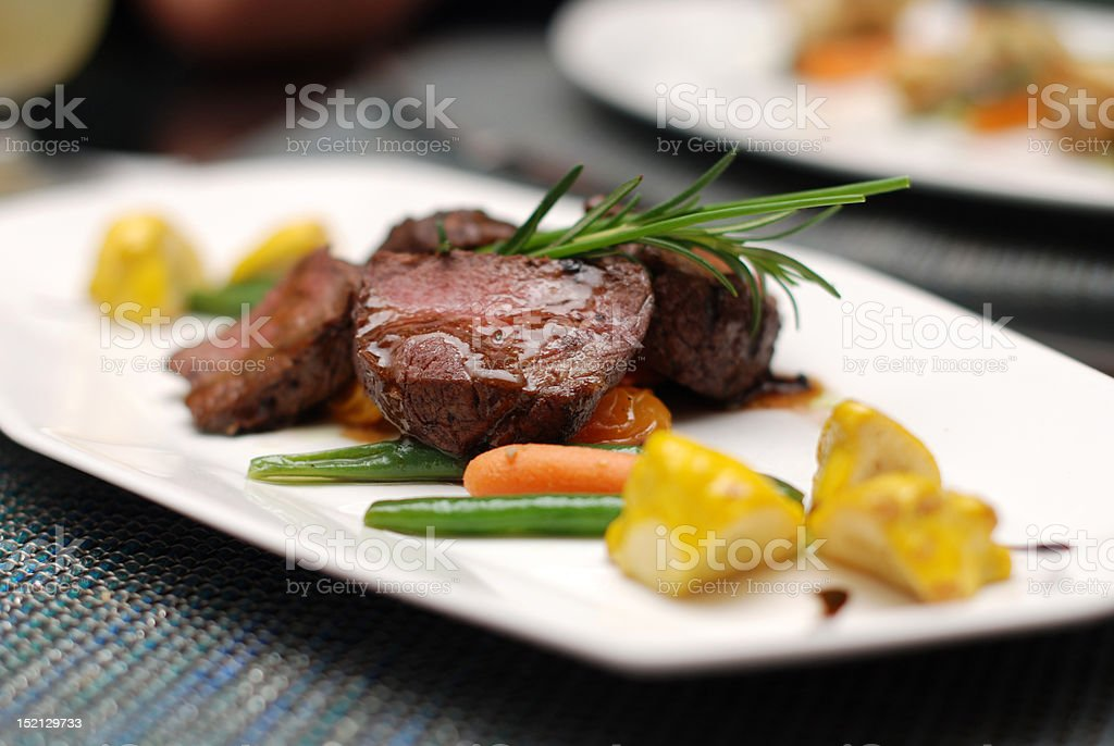 Veal fillet with Rosemary stock photo
