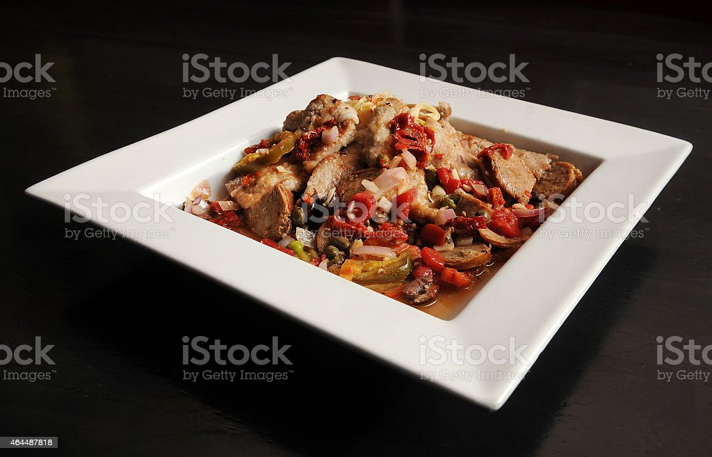 Veal Giuseppe Isolated stock photo