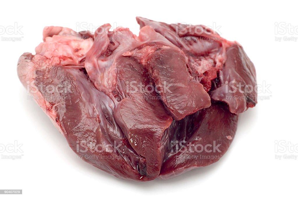 veal heart macro royalty-free stock photo