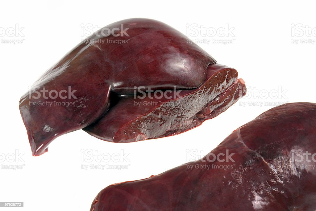 Veal liver royalty-free stock photo