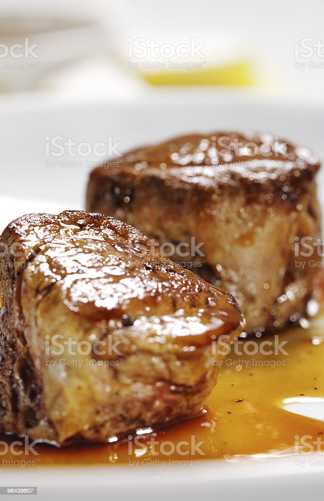 Veal Medallions Plate royalty-free stock photo