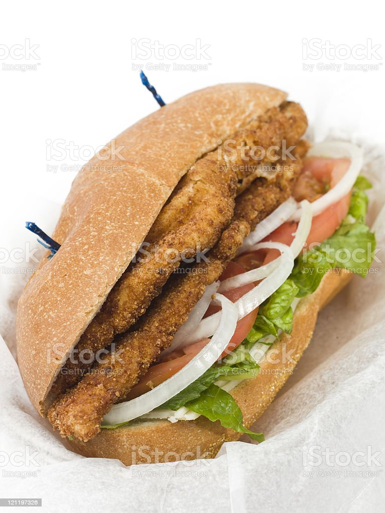 Veal or Chicken Milanese Sandwich stock photo