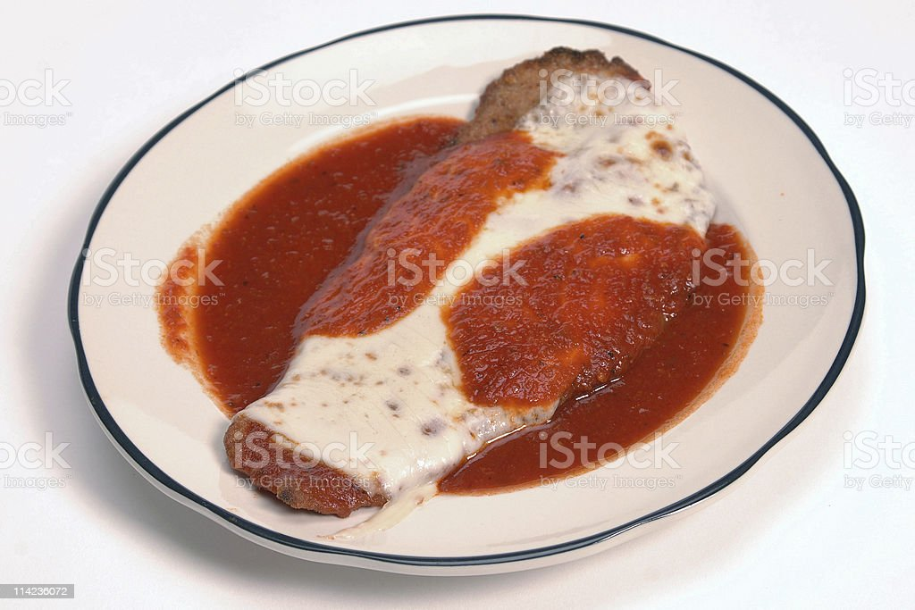 veal parmiggiana royalty-free stock photo