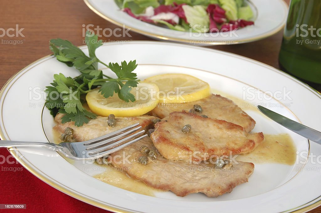 Veal Piccata royalty-free stock photo