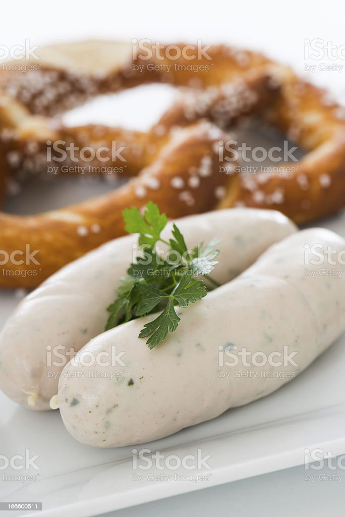 veal sausage breakfast stock photo