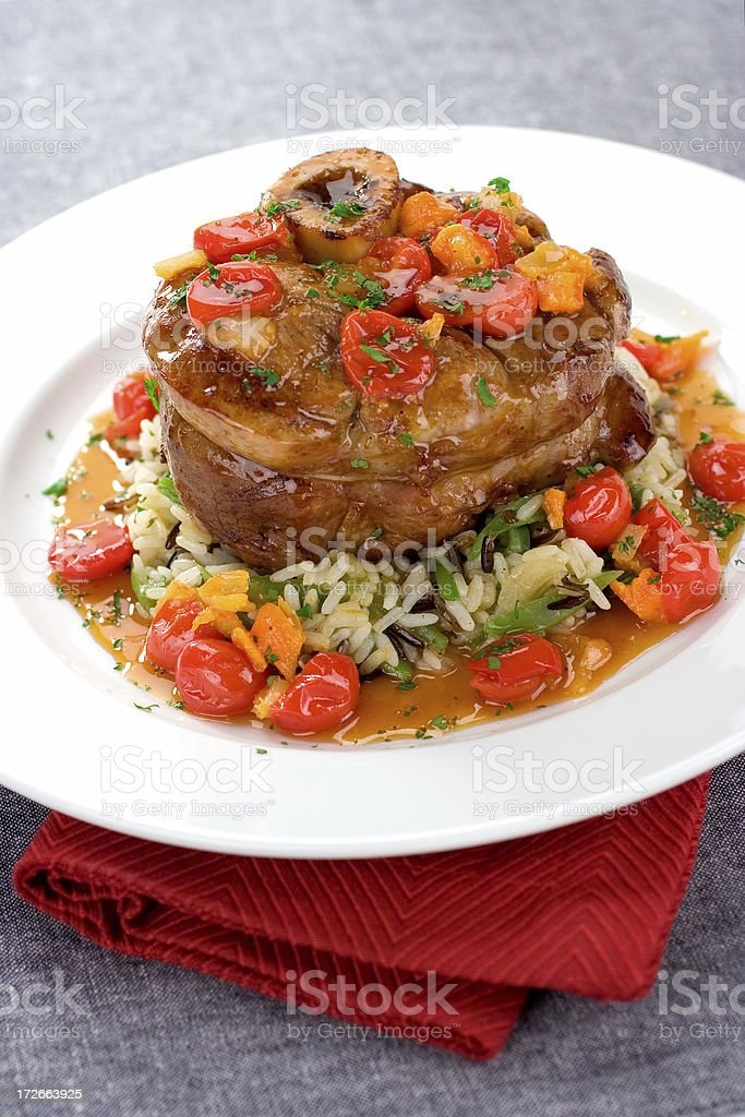 Veal Shank Dinner royalty-free stock photo