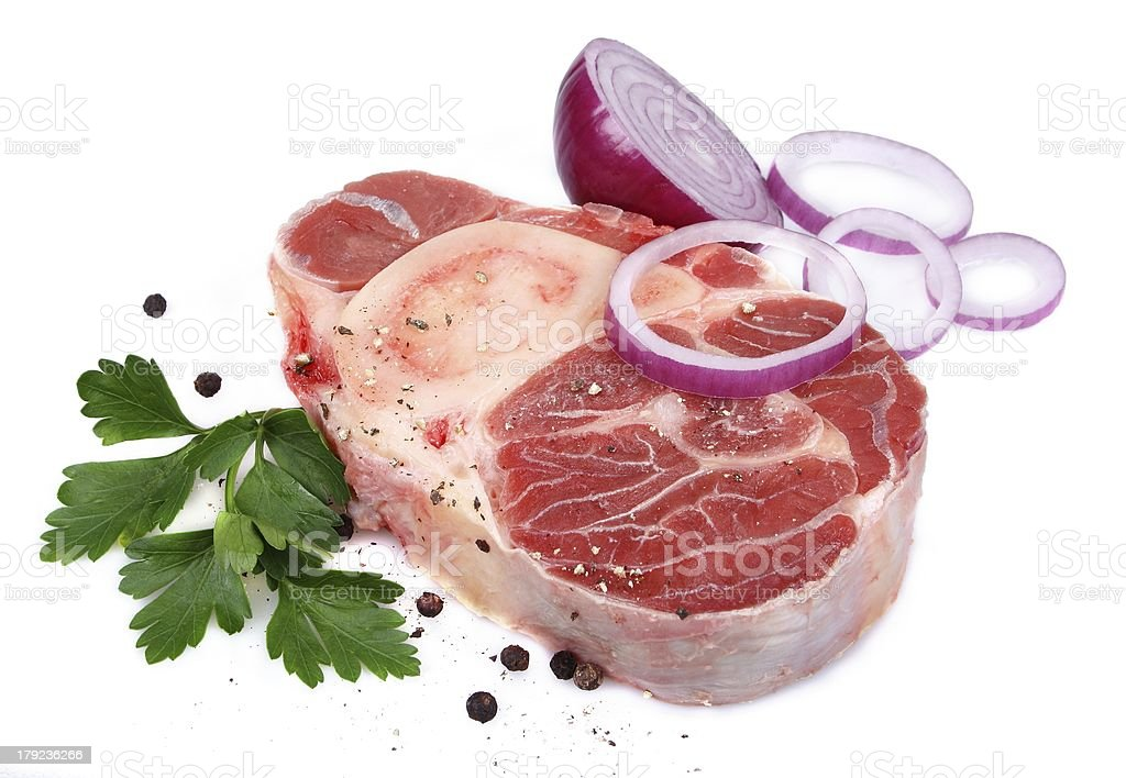 Veal shank with ingredients royalty-free stock photo