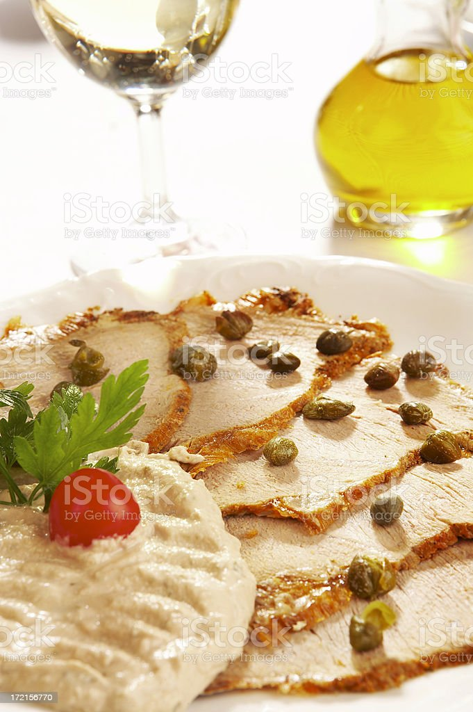 Veal Slices in Tuna Sauce royalty-free stock photo