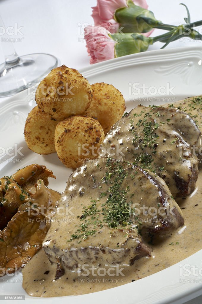 Veal steak. royalty-free stock photo