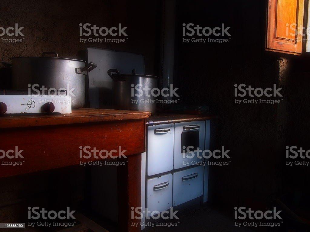 Vecchia Cucina A Legna Stock Photo - Download Image Now - iStock