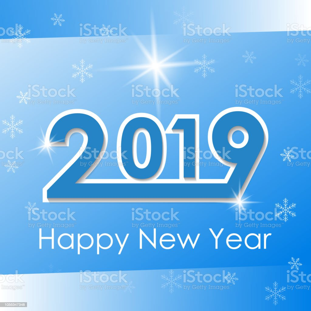 Vector 2019 Happy New Year background stock photo