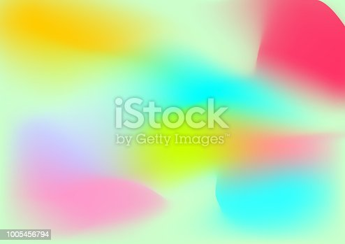 1007273724 istock photo Vector abstract color holographic background. 1005456794
