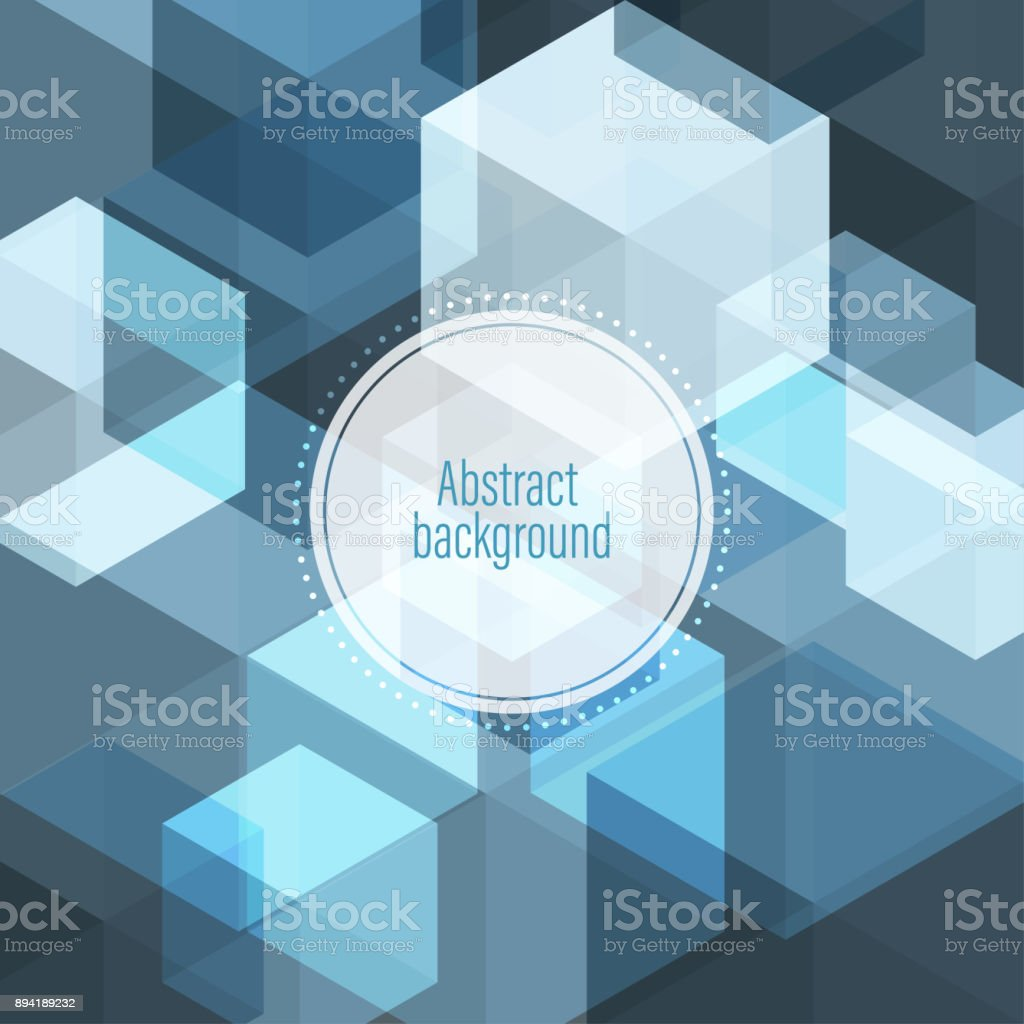 Vector Abstract geometric shape polygon colorful background stock photo