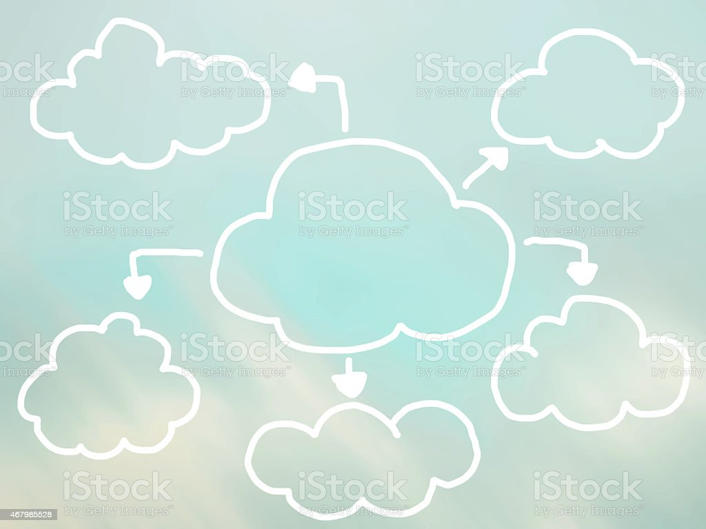 Vector abstract mind map  template cloud shape stock photo