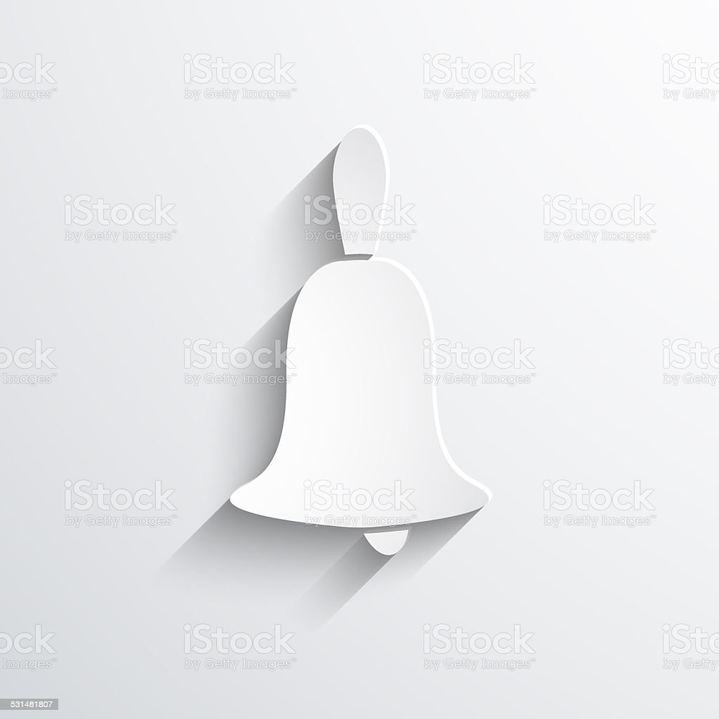 Vector bell web icon stock photo