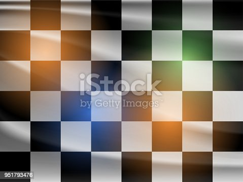 istock Vector black and white racing flag 951793476
