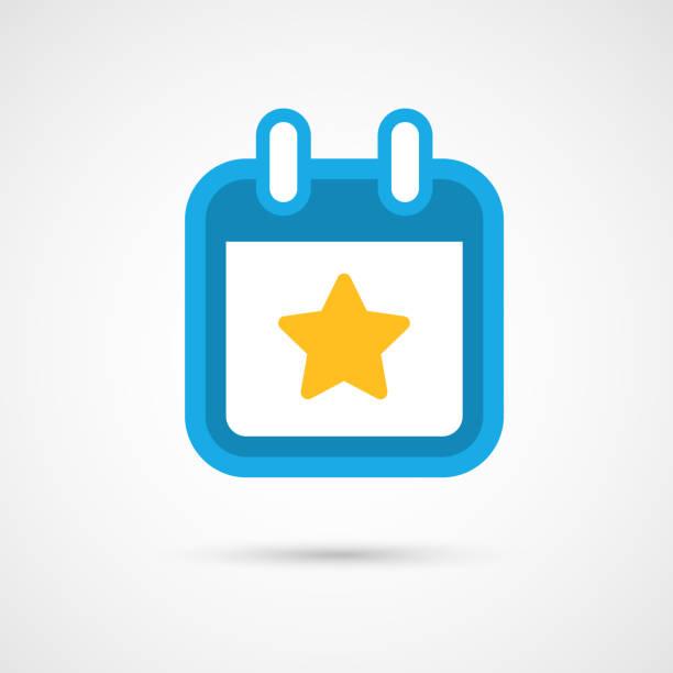 vektor kalendersymbol-sterne - kalender icon stock-fotos und bilder