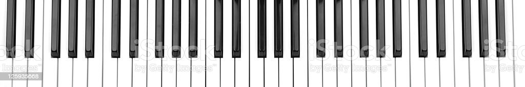 Vector cartoon of partial piano keyboard stock photo
