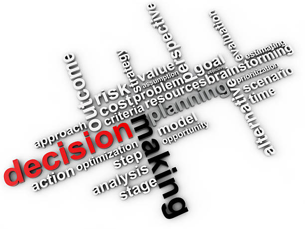 Vektor-Entscheidungen-Konzept mit word cloud – Foto