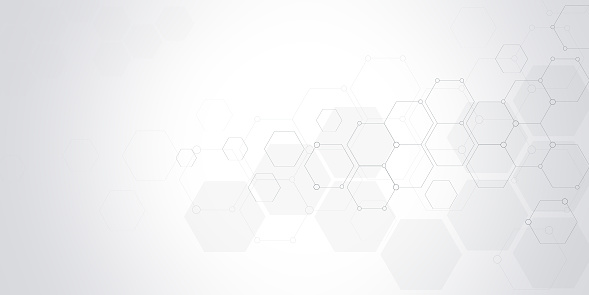 Vector hexagons pattern. Geometric abstract background with simple hexagonal elements.