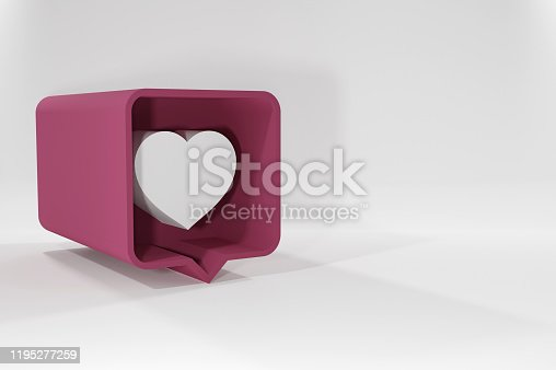 1146949110istockphoto Vector icon like.Thumbs up with heart shape. Social media red icon on isolated background. stock illustration - 3D Rendering 1195277259