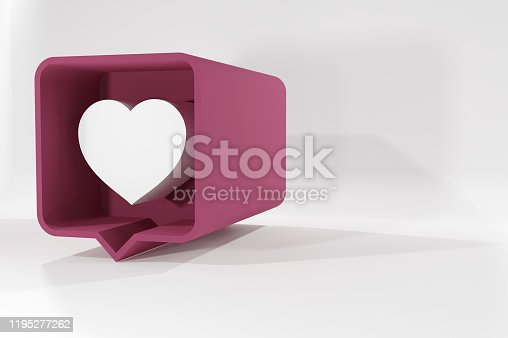 1146949110istockphoto Vector icon like.Thumbs up with heart shape. Social media red icon on isolated background. stock illustration - 3D Rendering 1195277262