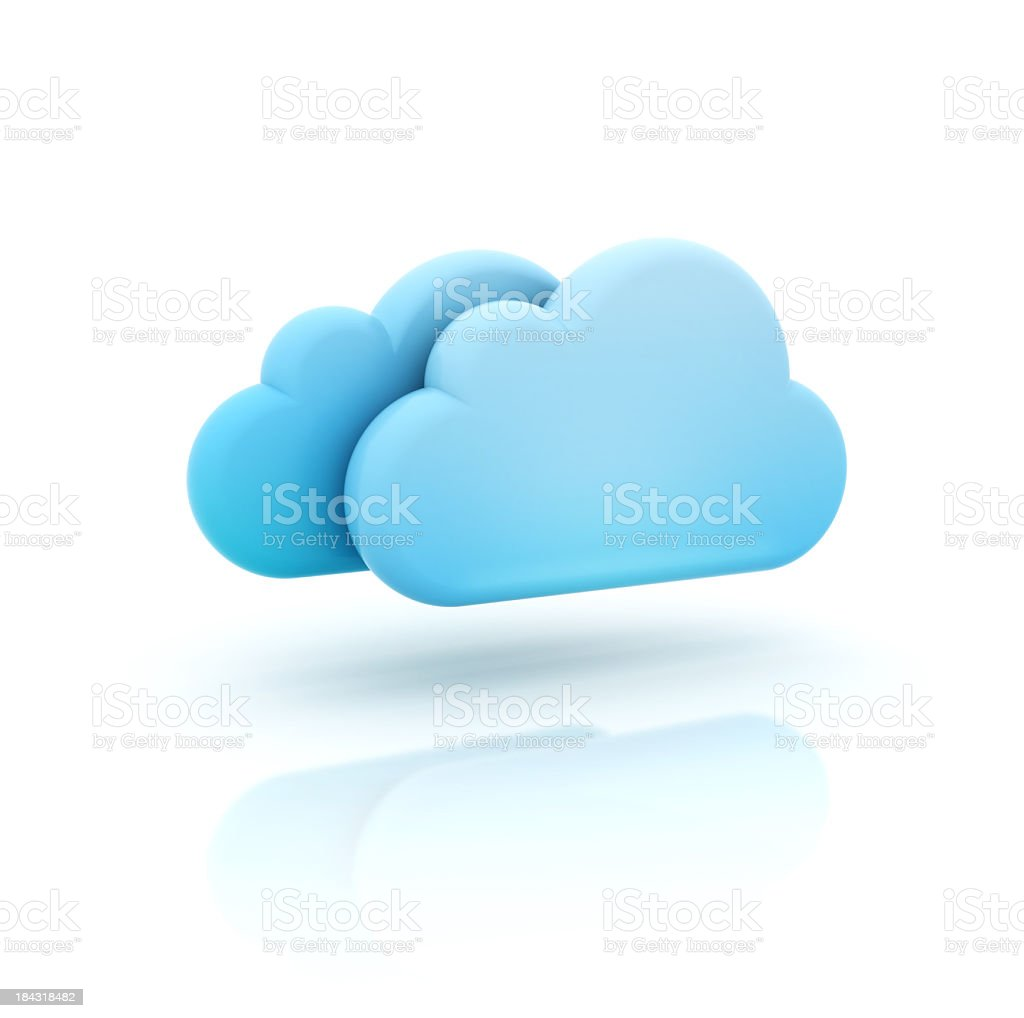 A vector illustration of a 3D cloud icon stock photo