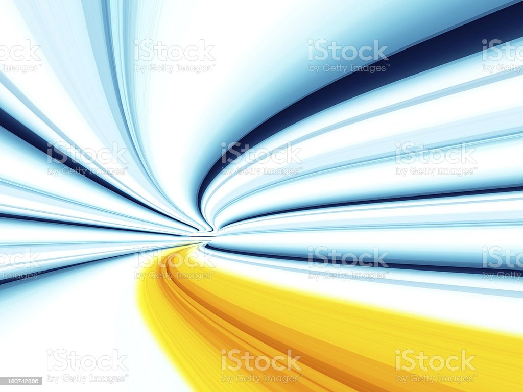 Vector illustration of blurred motion tunnel lines royalty-free stock photo