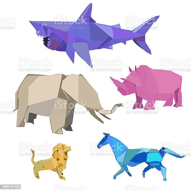 Vector illustration of multicolored happy wild animals picture id469107434?b=1&k=6&m=469107434&s=612x612&h=4nxicaqrv8tkg tob h9b4twnxbjns3fcm5ptwe10b8=
