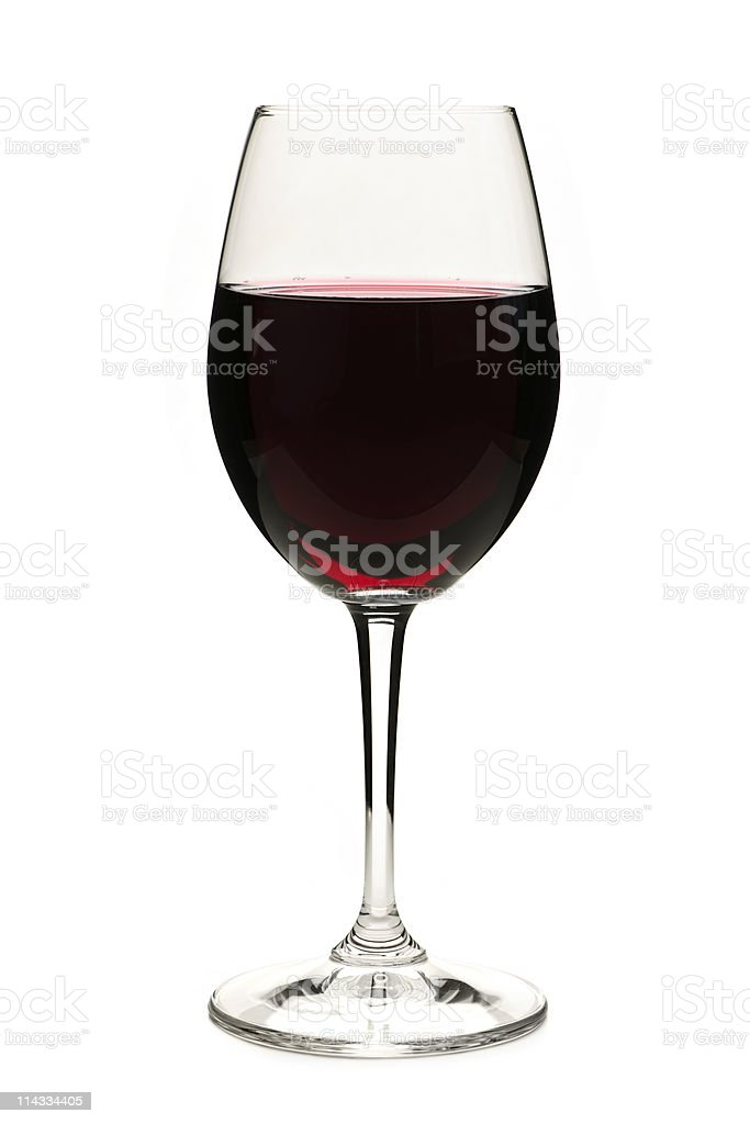 Vector image of a glass of red wine on a white background royalty-free stock photo