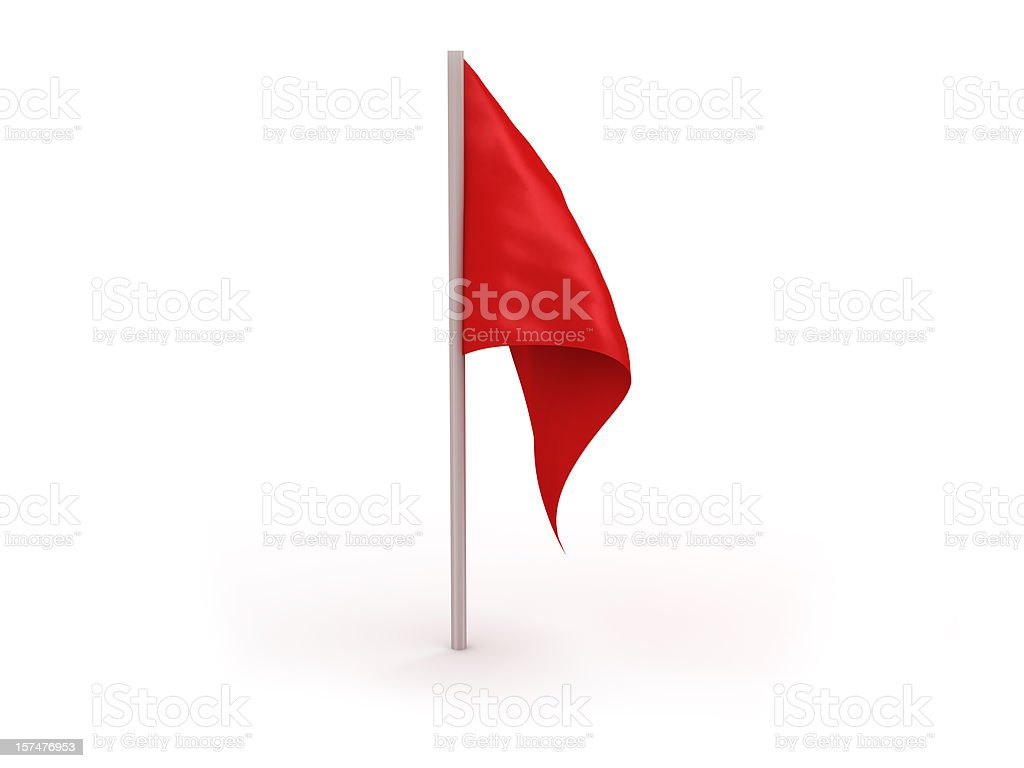 Vector image of a red flag isolated in a white background stock photo