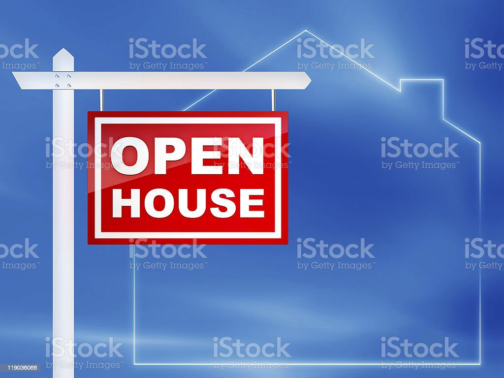 A vector image of an open house sign royalty-free stock photo