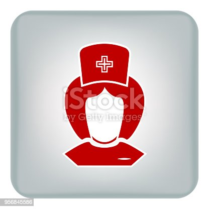 istock Vector image of nursing icons. Avatar 956845586
