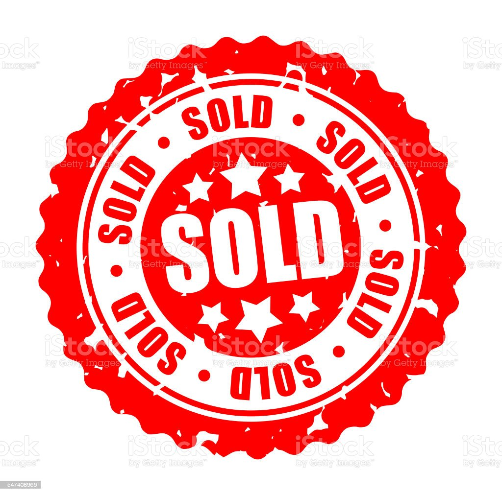Vector round stamp SOLD stock photo