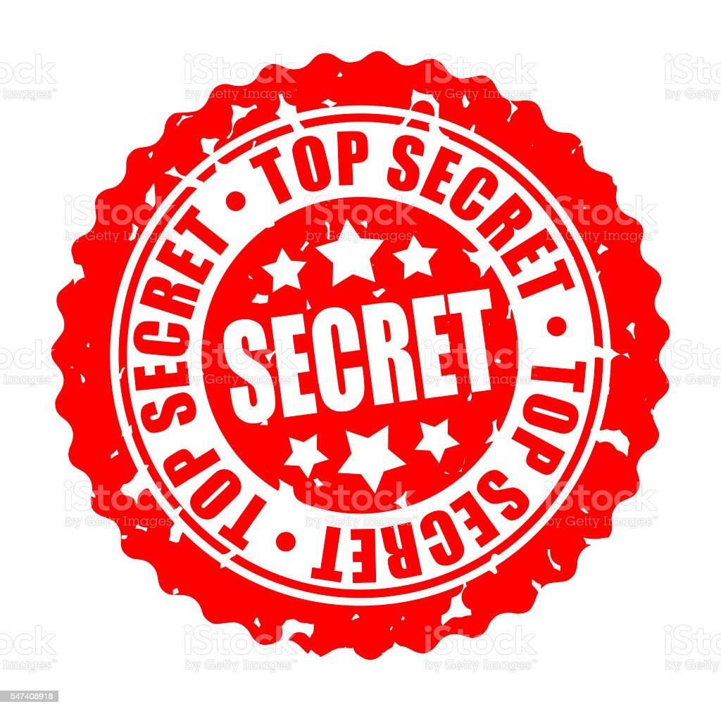 Vector round stamp TOP SECRET stock photo