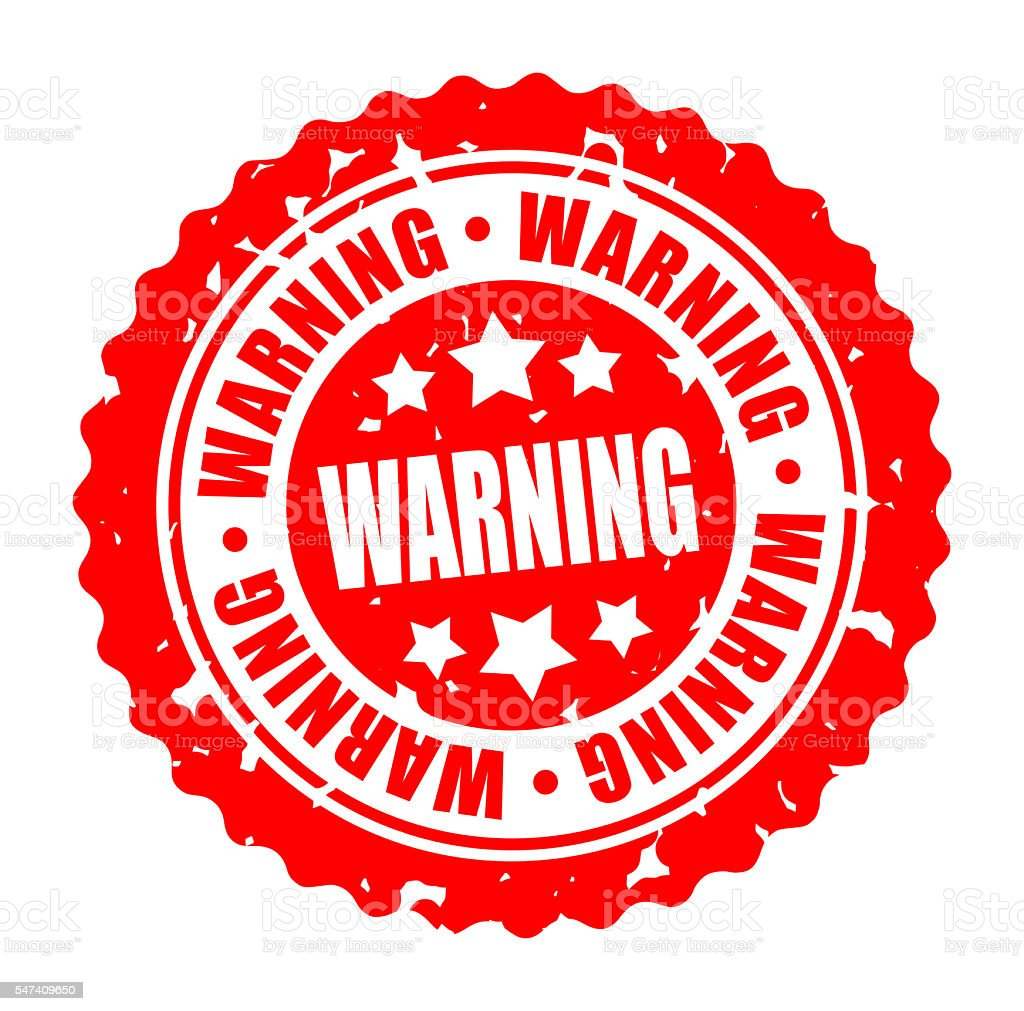 Vector round stamp WARNING stock photo
