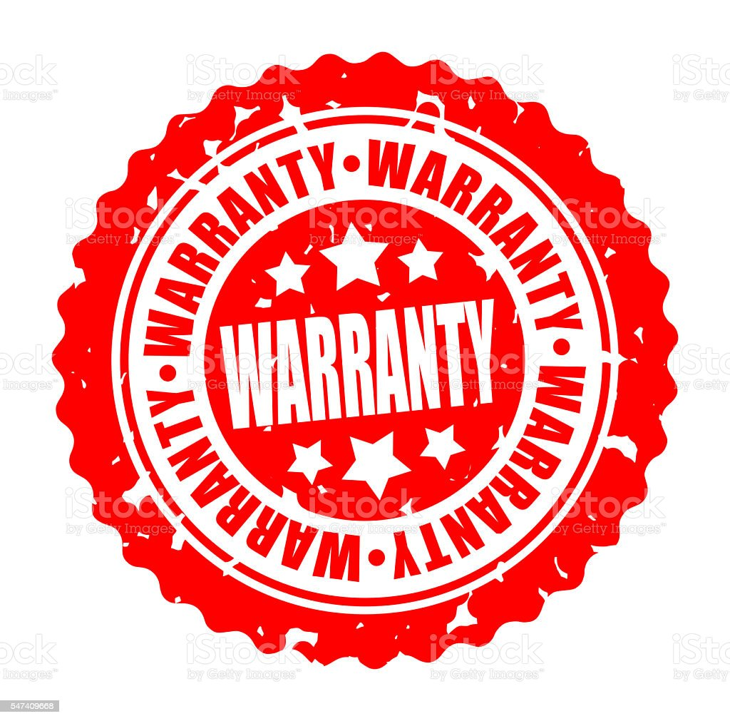 Vector round stamp WARRANTY stock photo