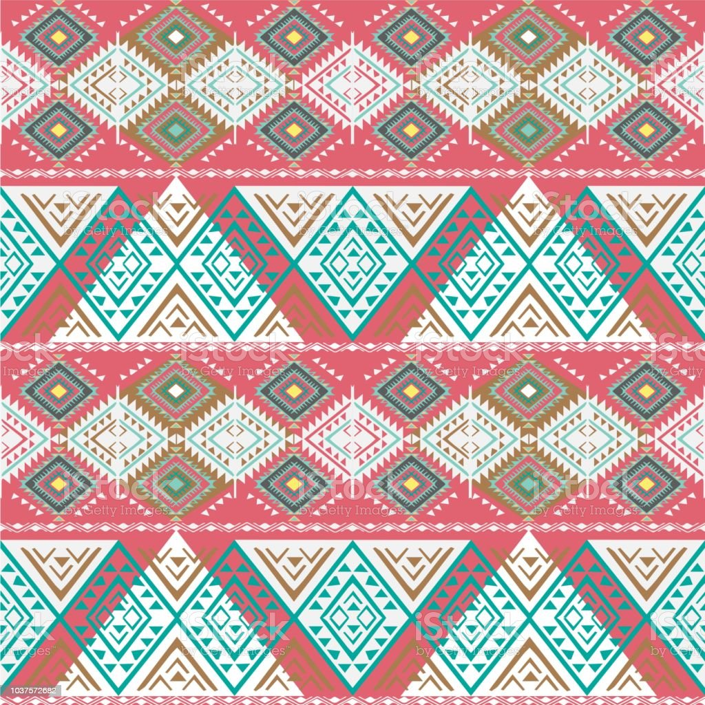 Vector Seamless tribal pattern stock photo