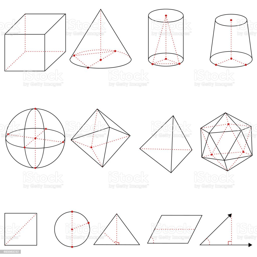Vector Set of Geometrical Shapes stock photo