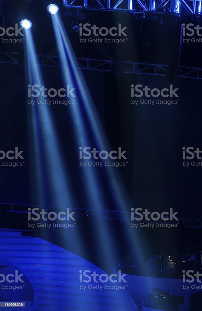 Vector Stage Spotlight royalty-free stock photo