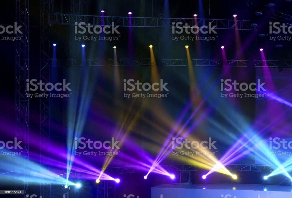 Vector Stage Spotlight with Laser rays royalty-free stock photo